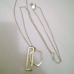 "LOFT  24"" Pendant Necklace Gold Tone"